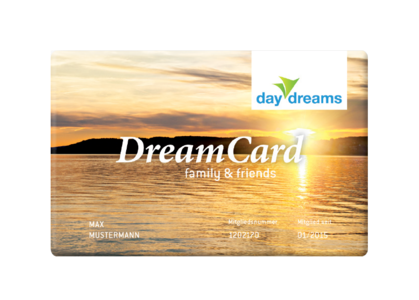 daydreams DreamCard family and friends: 1 Jahr Kurzurlaub so oft Sie möchten.