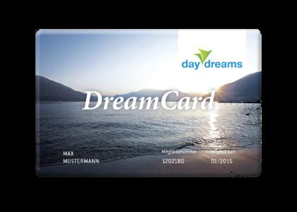 daydreams DreamCard: 1 Jahr Kurzurlaub so oft Sie möchten.